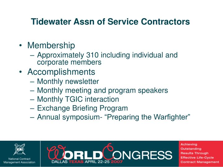 Tidewater Assn of Service Contractors