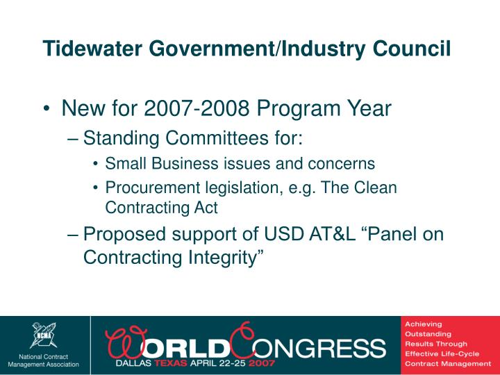 Tidewater Government/Industry Council
