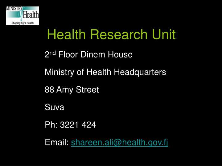 Health Research Unit