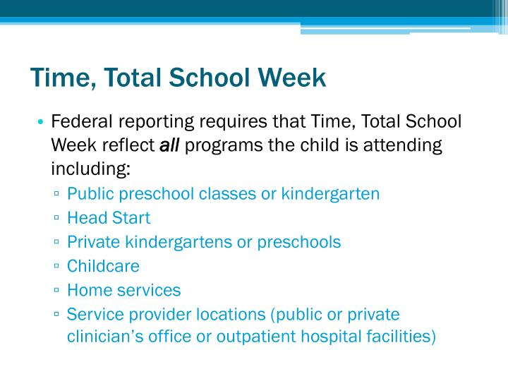 Time, Total School Week