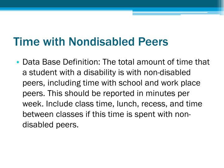 Time with Nondisabled Peers