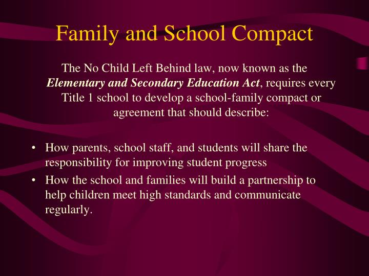 Family and School Compact