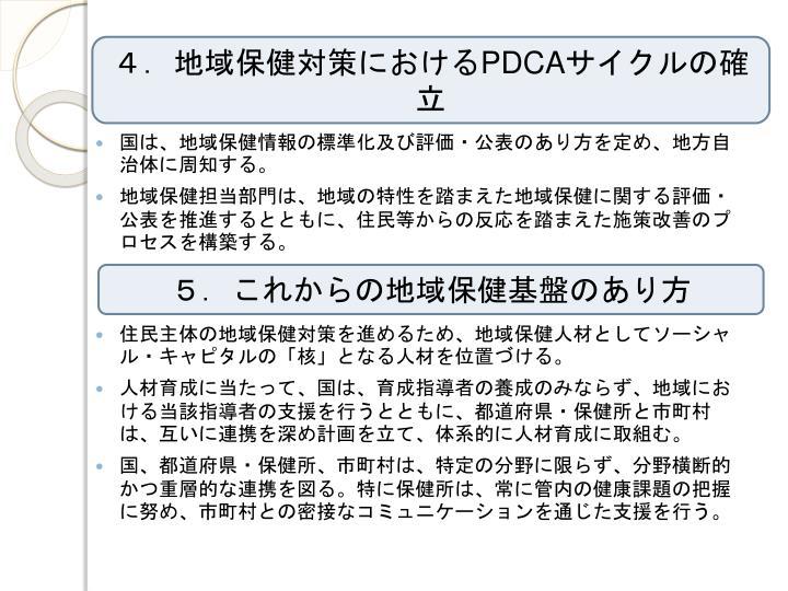 4.地域保健対策における