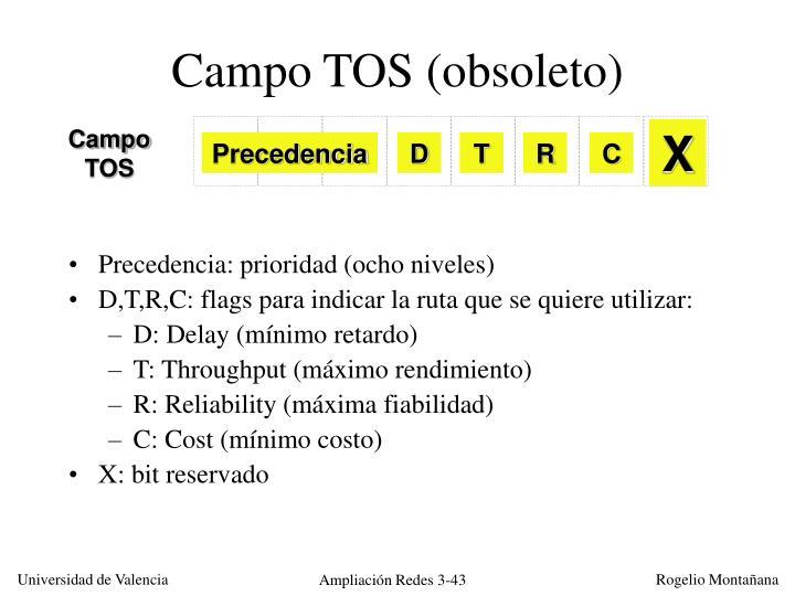 Campo TOS (obsoleto)