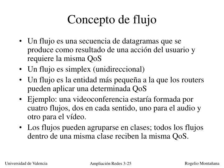 Concepto de flujo