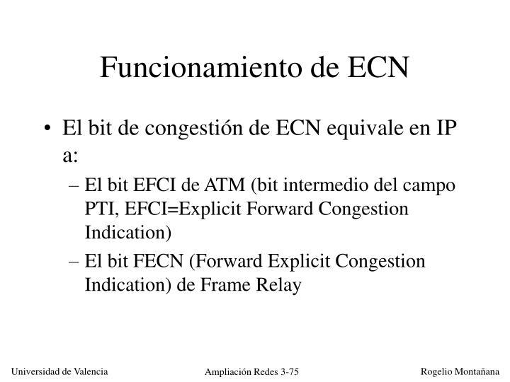Funcionamiento de ECN