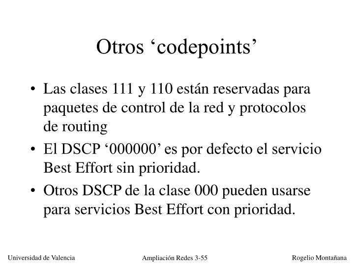 Otros 'codepoints'