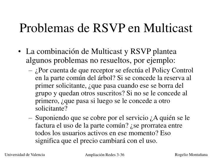 Problemas de RSVP en Multicast
