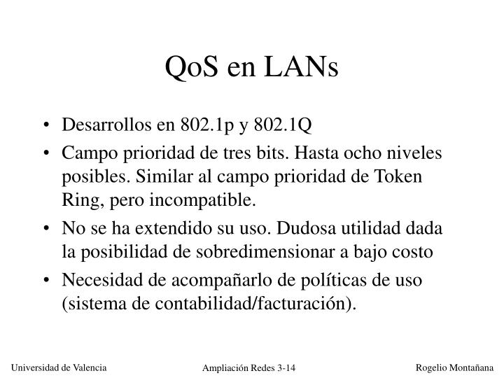 QoS en LANs