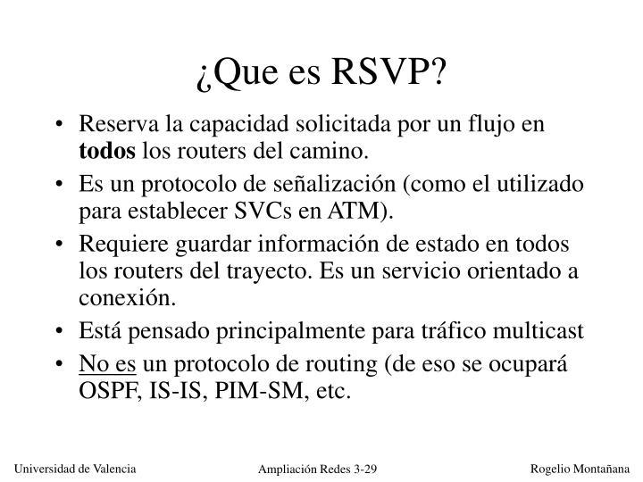¿Que es RSVP?