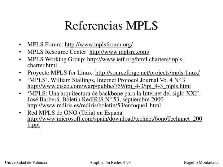 Referencias MPLS