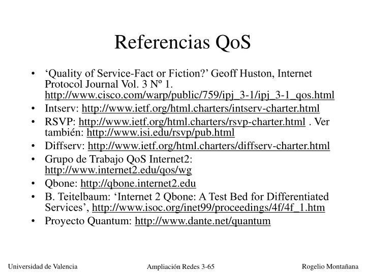 Referencias QoS
