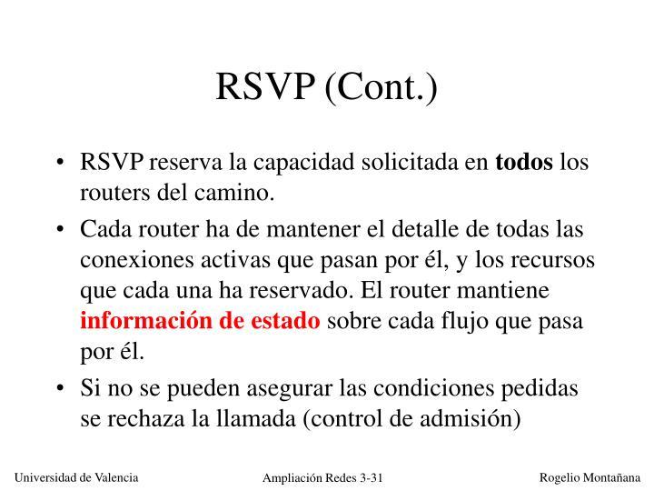 RSVP (Cont.)