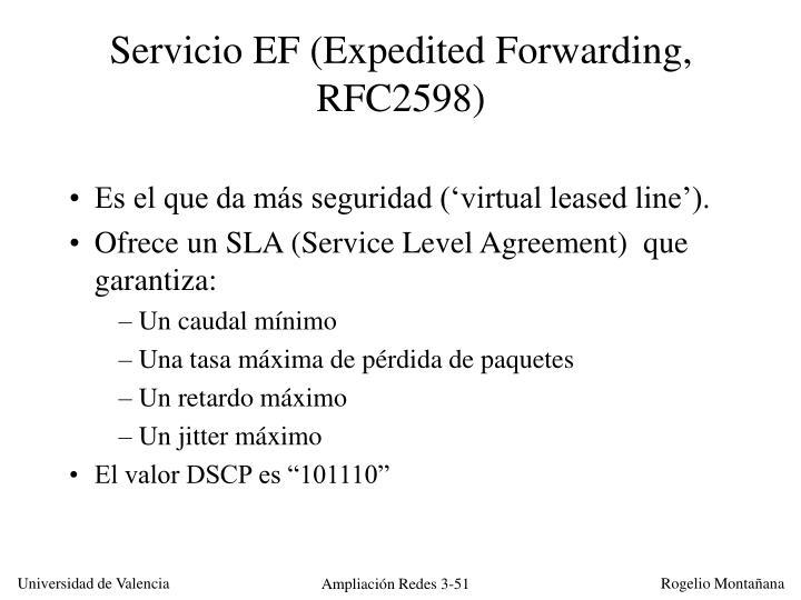 Servicio EF (Expedited Forwarding, RFC2598)