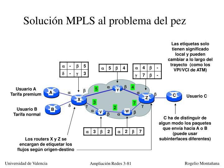 Solución MPLS al problema del pez