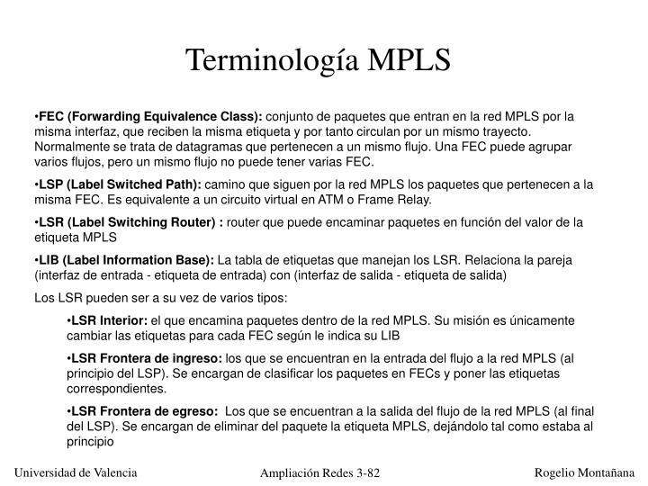 Terminología MPLS