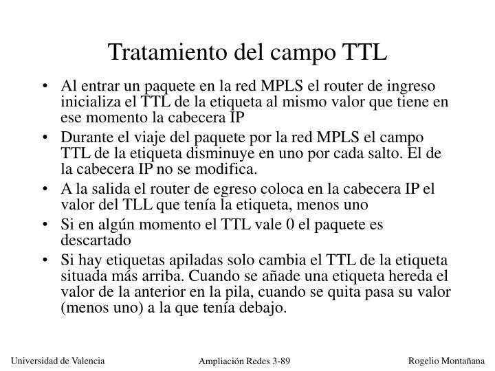 Tratamiento del campo TTL