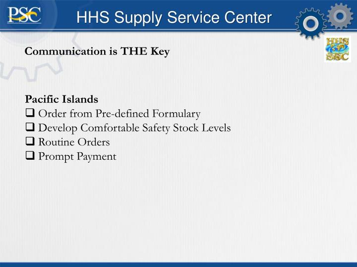 HHS Supply Service Center