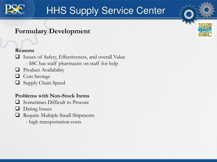 HHS Supply Service Center