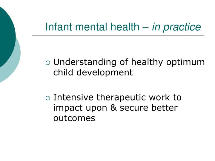 Infant mental health –