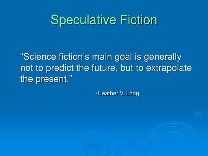 Speculative fiction1