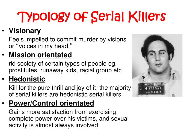 Typology of Serial Killers