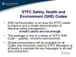 stfc safety health and environment she codes