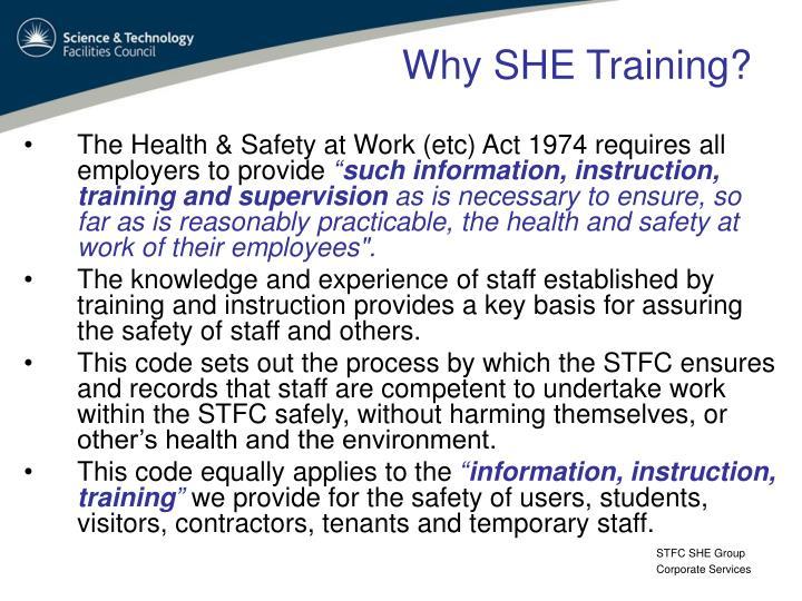 Why SHE Training?