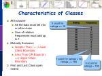 characteristics of classes