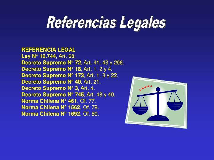 Referencias Legales