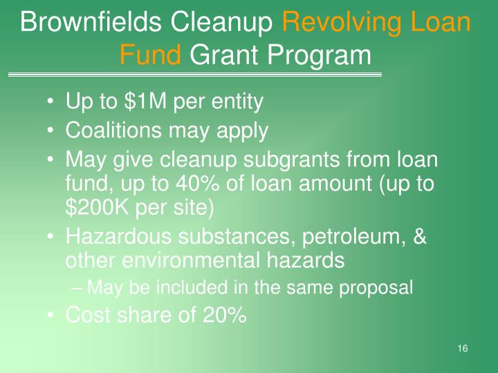 Brownfields Cleanup