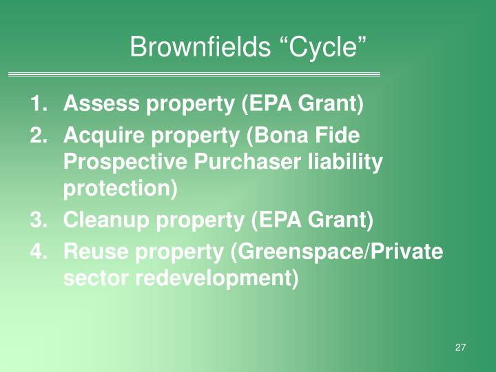 "Brownfields ""Cycle"""