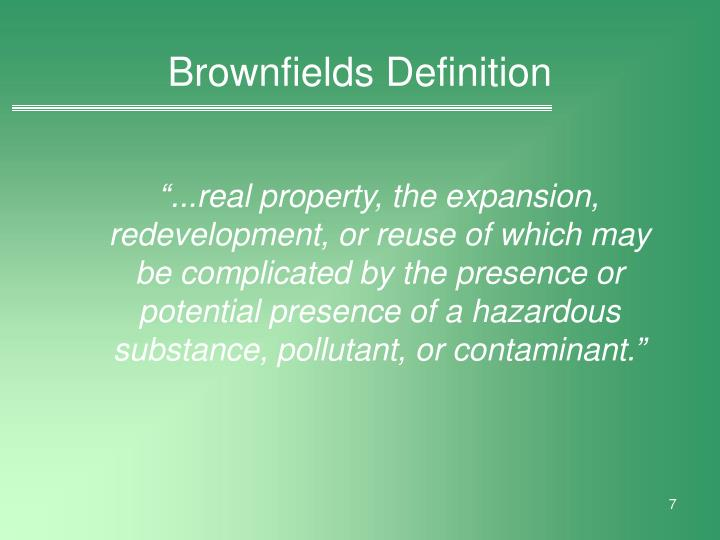 Brownfields Definition