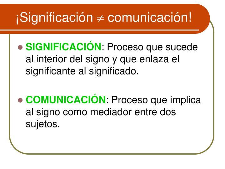 ¡Significación