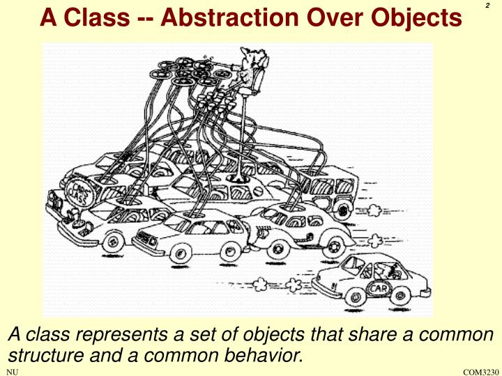 A Class -- Abstraction Over Objects