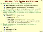 abstract data types and classes