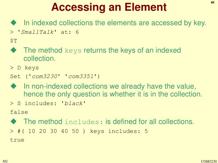 Accessing an Element