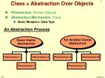 class abstraction over objects