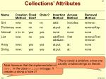 collections attributes