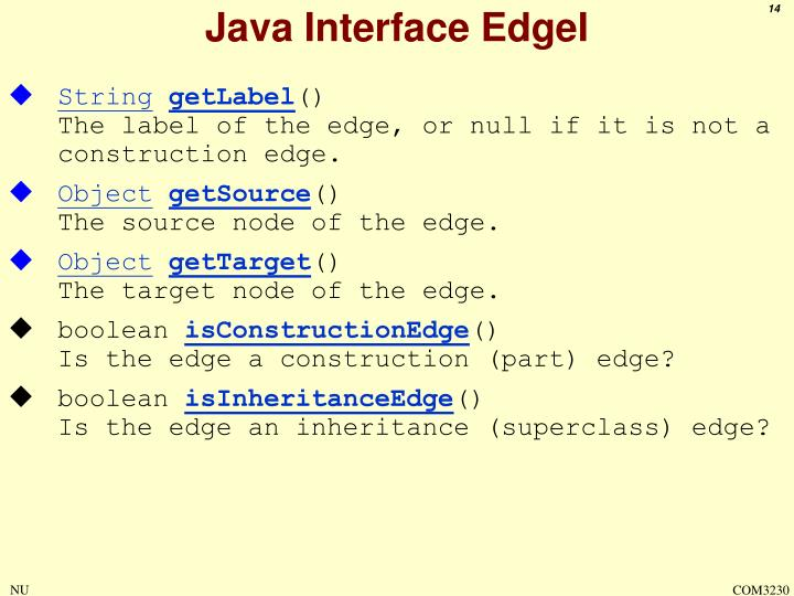 Java Interface EdgeI