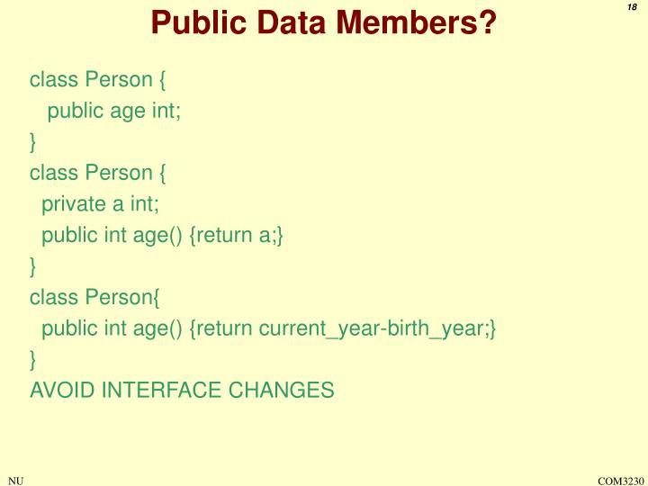 Public Data Members?