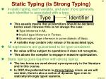 static typing is strong typing