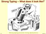 strong typing what does it look like