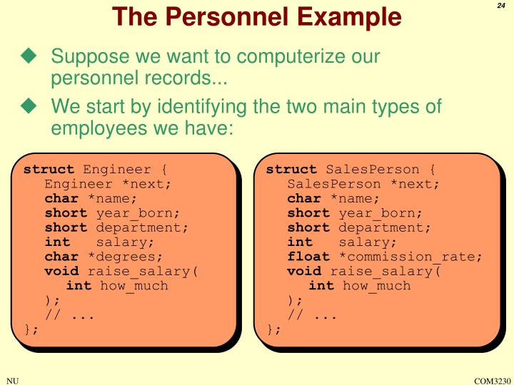 The Personnel Example