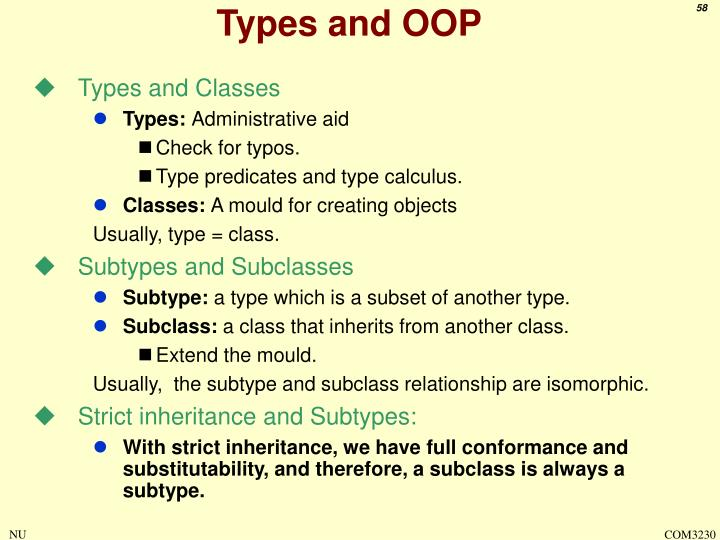 Types and OOP