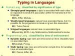 typing in languages