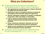 what are collections