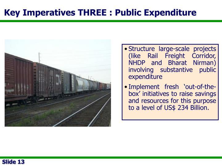 Key Imperatives THREE : Public Expenditure