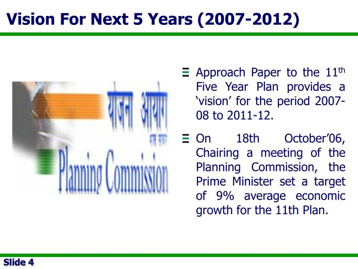 Vision For Next 5 Years (2007-2012)