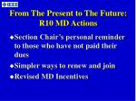 from the present to the future r10 md actions